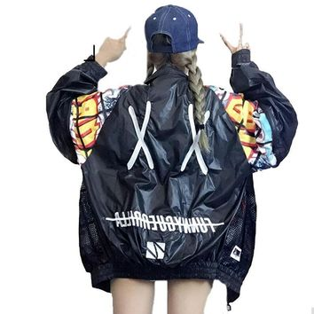 XX PRINT Out Back Embroidery Bomber Jacket