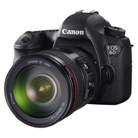 Canon EOS 6D 20.2MP Digital SLR Camera with EF 24-105mm Lens - Black