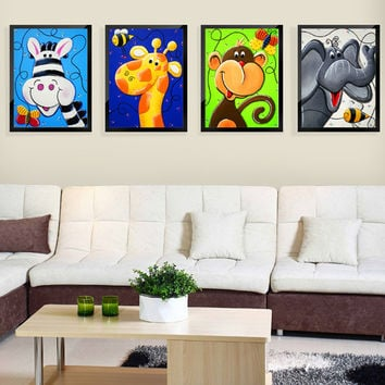 5d diy diamond painting cross stitch Diamond embroidery 3d diamond mosaic Cartoon animal picture new year children kids gift