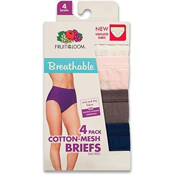 Fruit of the Loom Womens PlusSize 4 Pack Fit for Me Flexible Fit Brief