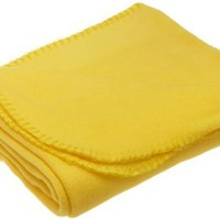 Northpoint 180 GSM 50-Inch by 60-Inch Fleece Throw, Yellow