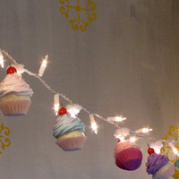 Fake Cupcake Cupcake Lovers String of Lights by 12LegsCuriosities