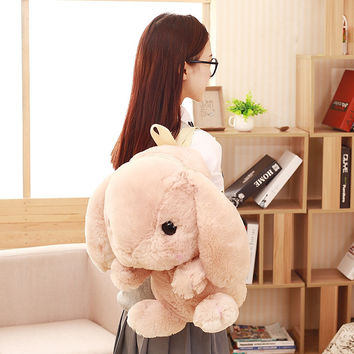 Cute Rabbit kids backpack toy plush animal backpack for children The kids shoulder bag