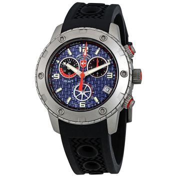 Swiss Military Rallye GMT Blue Dial Mens Rubber Watch 2747