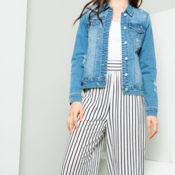 Striped and Cropped Pants