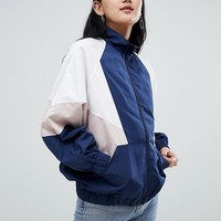 Pull&Bear color block wind jacket in multi at asos.com