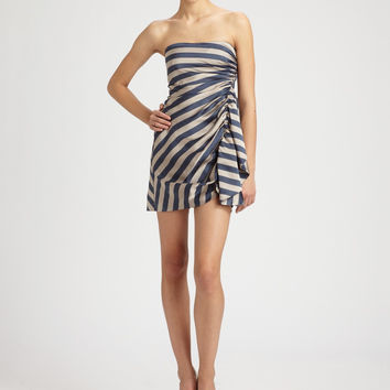 BCBGMAXAZRIA Reya Stripe Dress
