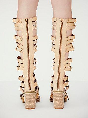 9943307faf2 faryl robin + Free People Womens Vegan Shell Game Gladiator Sandals