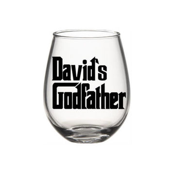 Godfather Wine Glass, Personalized Godfather Gift, Will You Be My Godfather Gift, Godfather, Father's Day
