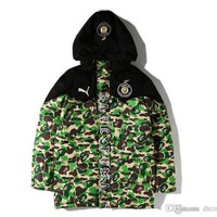 New Style Men's Camouflage Warm Hoodies Autumn Winter Thick Cotton-padded Baseball Cothes Men Long Sleeve Warm Cotton-padded Jacket Top