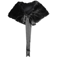 Gothic shop: black fake-fur stole by Sinister Clothing