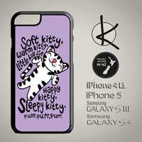 Soft Kitty Warm Kitty Phone Case - Purple - iPhone 4/4S, 5/5S, 6 and Samsung Galaxy S3,S4, S5 Choose Colours