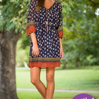 The Garden Dress, Navy