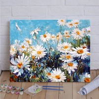Daisy Flower DIY Painting by Numbers