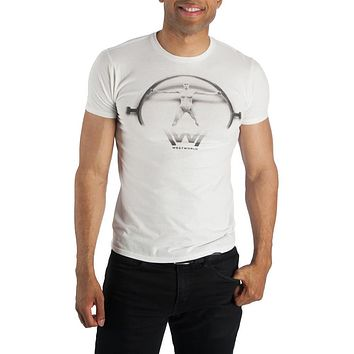 Westworld Logo with Vitruvian Man Symbol Tee