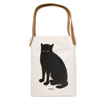 Noir Cat Tote Bag | Little Paper Planes