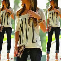 Lady Women Summer Casual Blouse Tee Shirt Cami Top Loose Tops Strapless = 6092286787
