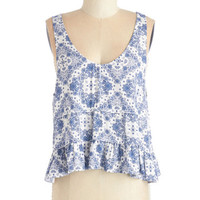 ModCloth Boho Short Length Sleeveless The Fest of Times Top