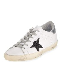 Golden Goose Glittered Star Low-Top Sneaker