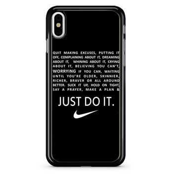 Nike Quote Quite Making iPhone X Case