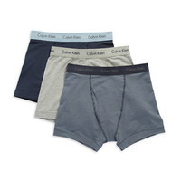 Calvin Klein Three Pack Classic Fit Trunks