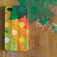 apple iphone case : colorful watercolor with polka dots