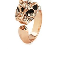 Diamond Panther Metallic Ring: Charlotte Russe