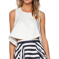 Cameo No Diggity Flare Tank in Ivory