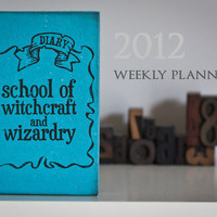 2012 Weekly Planner TURQUOISE school of by celestefrittata