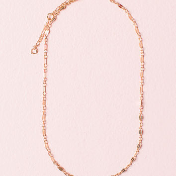 Thin Gold Chain Link Necklace