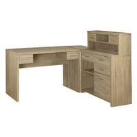 Reclaimed-Look L-Shaped Home Office Desk