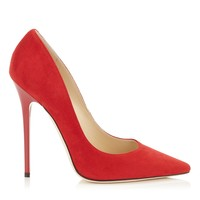 Red Suede Pointy Toe Pumps | Anouk | Autumn Winter 14 | JIMMY CHOO Shoes