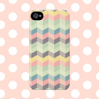 Cute Pastel Chevron iPhone4/4s/5/5s/5C Case