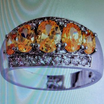 Citrine Colored Band Ring