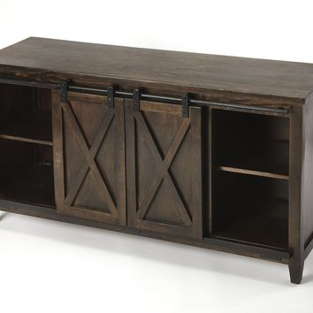 Aiken Brown Rustic Entertainment Console