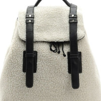 White Fuzzy Wuzzy Backpack