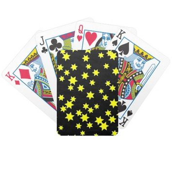 Yellow Stars Bicycle Playing Cards
