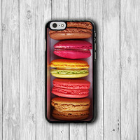 Color Sweet MACAROON Dessert iPhone Cases, Cute iPhone 6 Cover, iPhone 6 Plus, iPhone 5 Hard Case, Soft Silicon, Plastic Accessories Gift