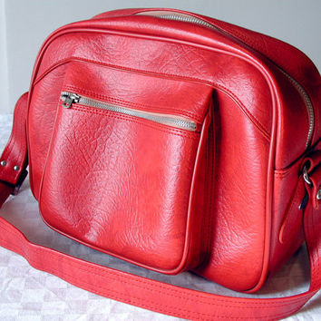 Red Escort Travel Bag Vintage Messenger Bag