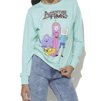 Aventure Time Sweatshirt | Shop Just Arrived at Wet Seal