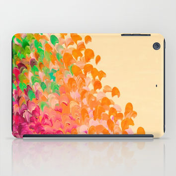 CREATION IN COLOR Autumn Infusion - Colorful Abstract Acrylic Painting Fall Splash Ombre Ocean Waves iPad Case by EbiEmporium