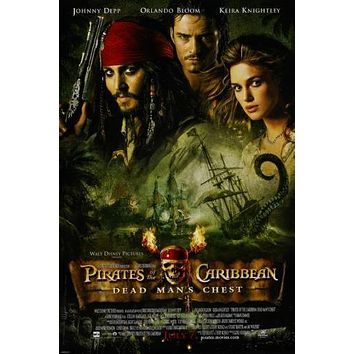 Pirates Of The Caribbean Dead Man's Chest Poster 24x36