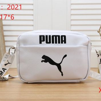 PUMA Women Fashion Leather  Satchel Tote Shoulder Bag Handbag