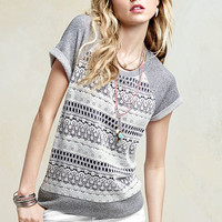 Crochet French Terry Sweatshirt - Victoria's Secret