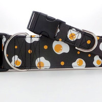 Eggs A La Dots Pet Collar (Martingale, Buckle, or Tag)