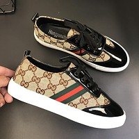 Gucci New Fashion Women Casual Sport Shoe Sneakers Khaki I12697-1