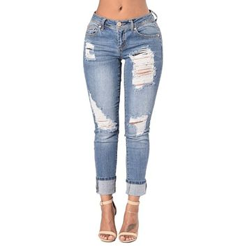 [15279] Ripped Denim Jeans