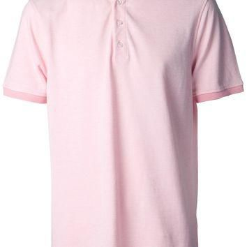 Isaia Spread Collar Polo Shirt