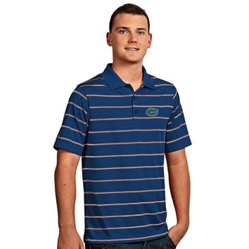 Antugua Florida Gators Deluxe Striped Desert Dry Xtra-Lite Performance Polo