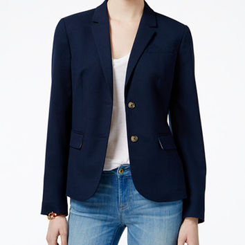 Tommy Hilfiger Two-Button Blazer, Only at Macy's - Blazers - Women - Macy's